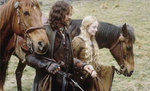 Aragorn & Eowyn on the march