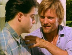 Clay is trying to bond with Darkly. (Viggo Mortensen, Brendan Fraser)