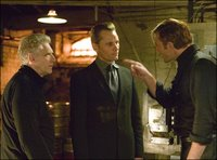 David Cronenberg, Viggo Mortensen and Vincent Cassel on the set of Eastern Promises